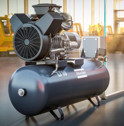 Compresores de aire industriales por pistón